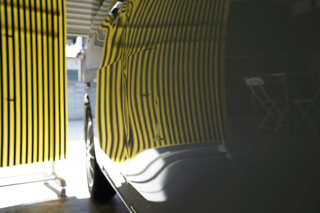 スペーシア、修理前リフレクターボード