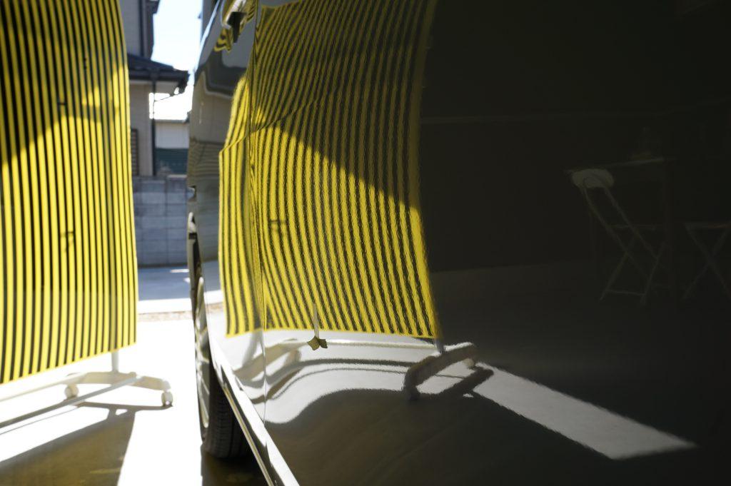 スペーシア、デントリペア修理後リフレクターボード