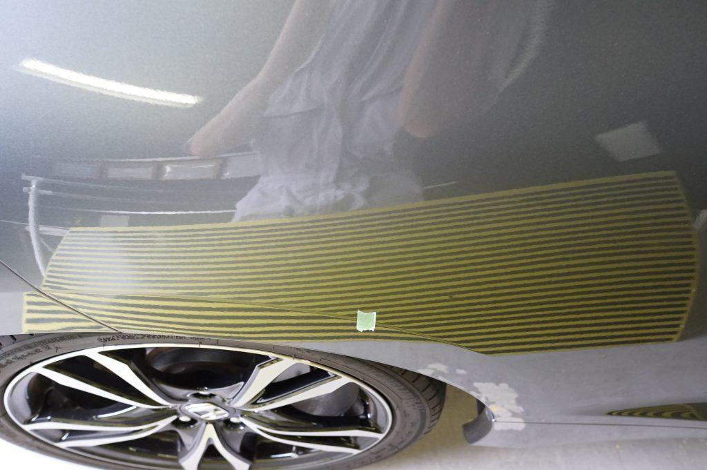 CR-Z リヤフェンダーのヘコミ修理後4