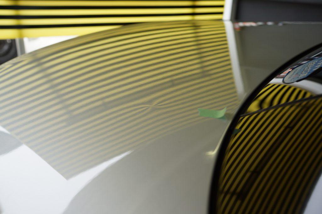 メルセデスSLK トランクの凸デント3