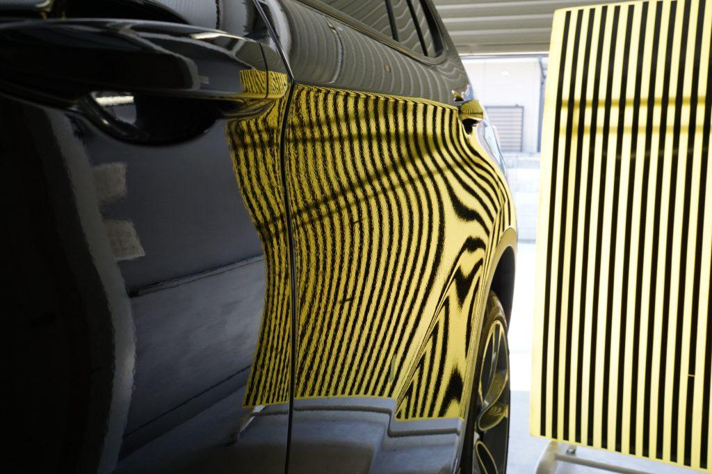 BMW X1 ドアのヘコミ修理後2