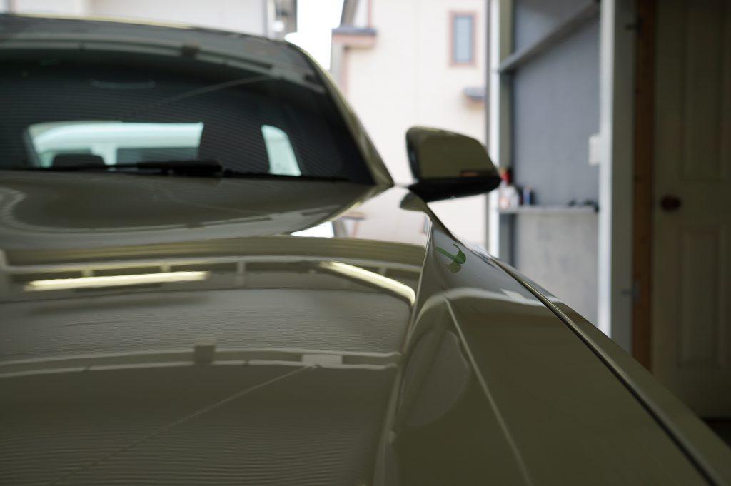BMW2シリーズ ボンネットのヘコミ修理後3