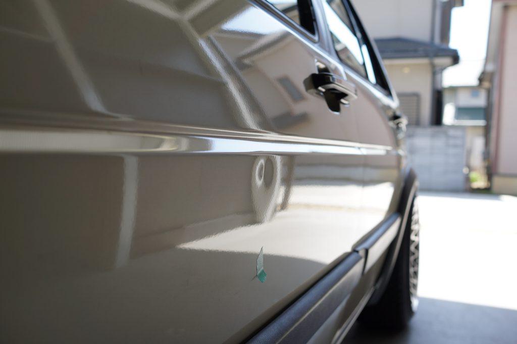 VWゴルフⅡ ドアのヘコミ2