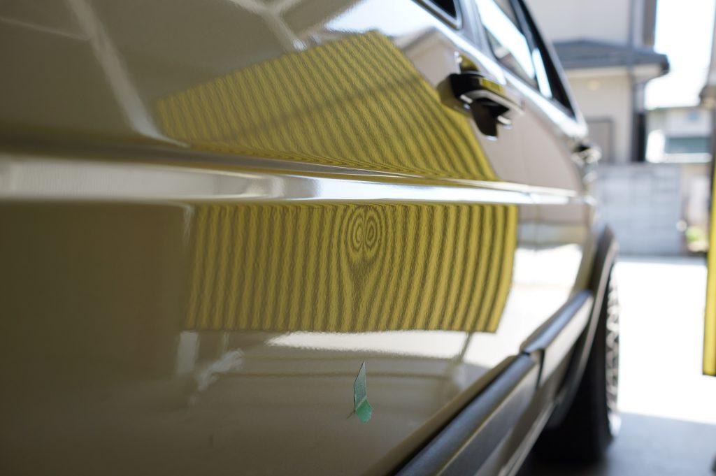 VWゴルフⅡ ドアのヘコミ3