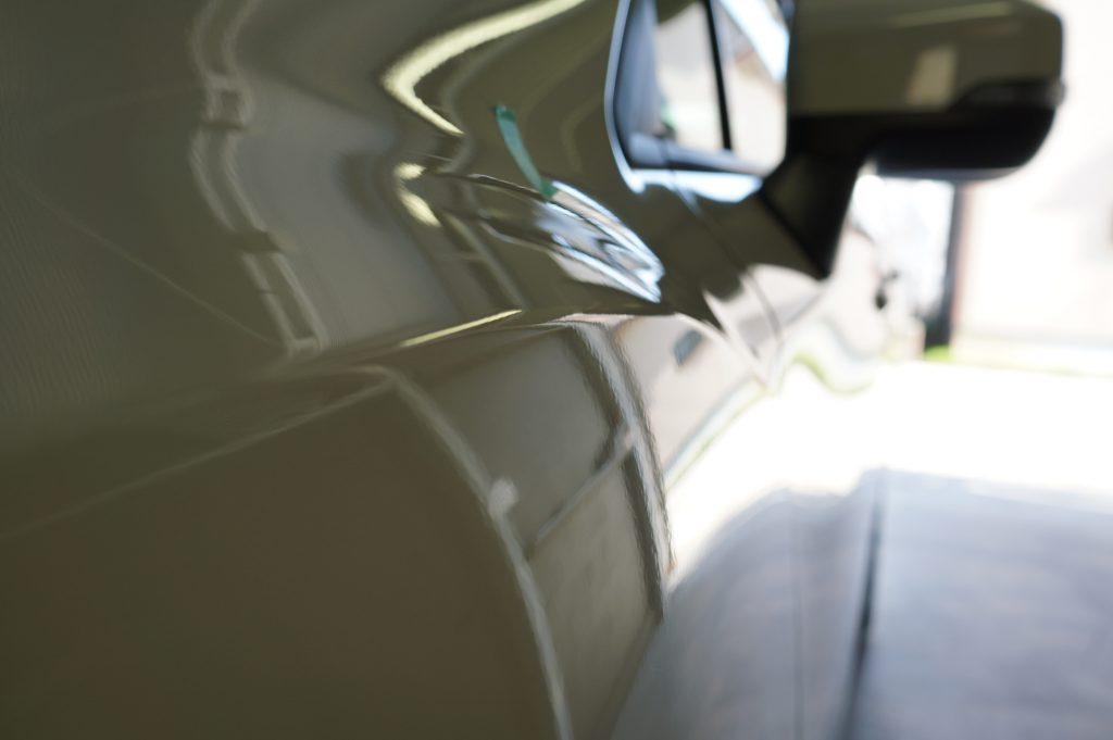 インプレッサG4フロントフェンダーのヘコミ修理後