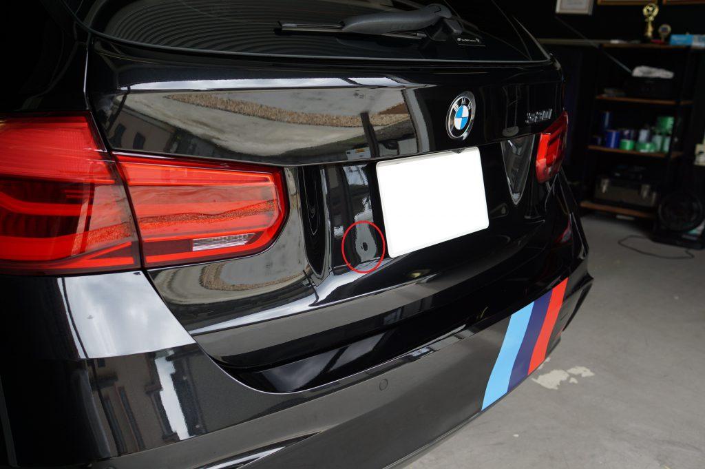 BMW バックドアのヘコミ