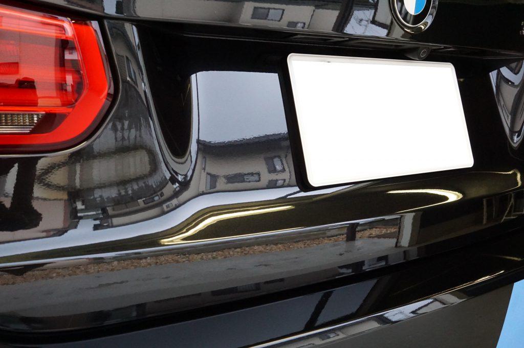 BMW バックドアのヘコミ修理後